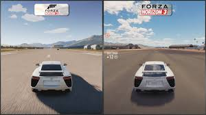sport lexus lfa forza horizon 2 vs forza horizon 3 lexus lfa sound comparison