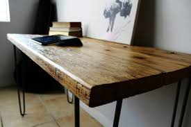 Wood Office Desks Collection In Reclaimed Wood Office Desk Home Design Ideas
