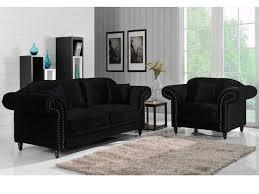 canapé velours noir canapé et fauteuil 100 velours 3 coloris elisabeth