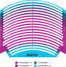 orchestra floor plan seating map