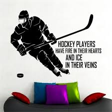 online buy wholesale dorm posters from china dorm posters hockey wall sticker for boys room sports vinyl decal bedroom decor nursery wall art dorm room