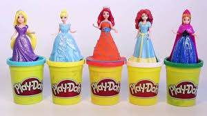 disney princess magiclip dolls play doh dress how to make