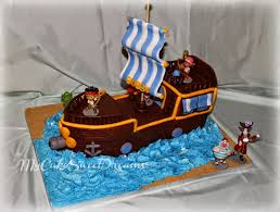 pirate ship cake my cake sweet dreams jake and the neverland pirate ship cake