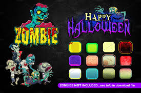 cartoon halloween text effect layer styles creative market