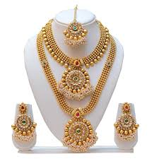 jewelry sets wedding jewelry set necklace gold and earring gold the right choice