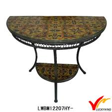 half moon dining table antique three leg half round dining table with tile top buy