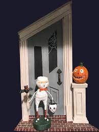 Halloween Backdrop Lori Mitchell Spooky Door Backdrop For Halloween Figurines