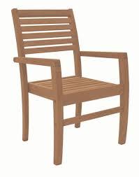 royal teak avant outdoor patio stacking arm chair grade