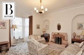 before u0026 after a dated u002770s living room gets dark u0026 dreamy cozy