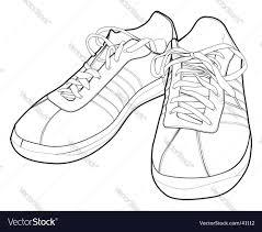 sport shoes royalty free vector image vectorstock