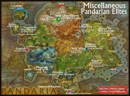 Wow Kalimdor Map Wow Rare Spawns Miscellaneous Rares And Elites Of Pandaria