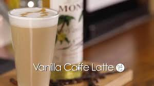 cafe latte monin vanilla cafe latte youtube