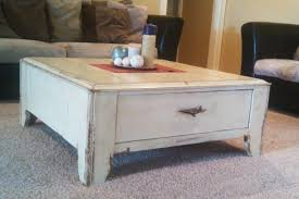 white wood end table distressed white coffee table will be never out of date