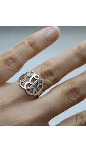 Monogram Rings Silver Personalized From Me To You Cut Out Monogram Ring And Tons Of