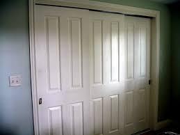 Sliding Closet Door Panels Three Panel Sliding Closet Doors