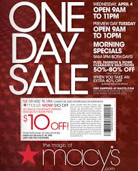 macy s printable coupon one day sale for two days coupons 4 utah