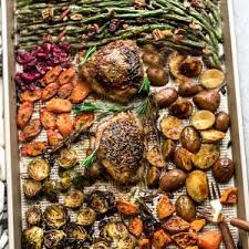 sheet pan turkey dinner healthy easy all in one meal