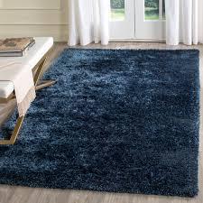 Blue Shaggy Rug Plush Navy Blue Shag Toronto Collection Safavieh Com