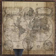 World Map Antique by Square Antique World Map On Canvas U2013 Pepinshop