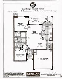 Lennar Homes Floor Plans by Heritage Pines Inverness Floor Plan