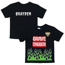 grave digger monster truck merchandise monster jam grave digger uniform black t shirt tv s toy box