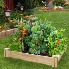 raised garden bed fence posts home outdoor decoration