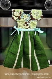 scotch green and white stripe dish towel kitchen towels handtowel cupcakes housewarming gift idea nifty gifties