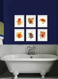 wall decor ideas for bathrooms 50 interesting and octopus home decor finds