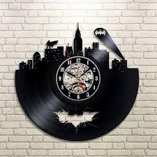 vinyl art wall clock batman gotham city skyline unusual gifts r
