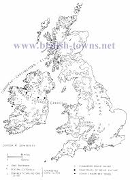 Map Of The British Isles Neolithic Monuments On The British Isles