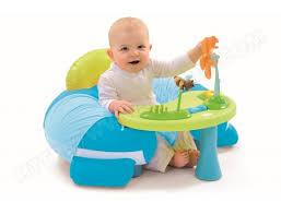 siege gonflable bébé fauteuil bébé smoby cosy seat cotoons bleu 211308 pas cher
