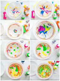 hello wonderful how to make spin art doily paper flowers