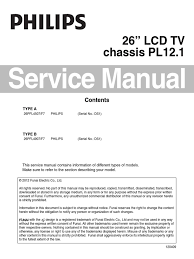 philips 26pfl4507 chassis pl12 1 service manual electrical