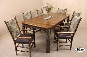 Hickory Dining Room Table by Amish And Adirondack Kitchen Dining Room Furniture Ny