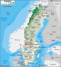 map of sweden sweden large color map