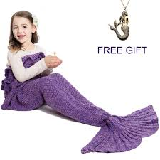 amazon com mermaid tail blanket for kids hand crochet snuggle