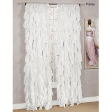 Gypsy Shower Curtain Cascade Sheer Voile Ruffled Window Treatment