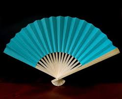 cheap hand fans for wedding 9 water blue paper hand fans for weddings 10 pack on sale now