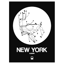 Nyc Subway Map Poster by New York Subway Map Orange Subway City Maps Touch Of Modern