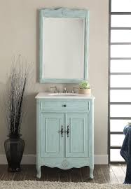 neoteric design bathroom vanity and mirror set distress light blue