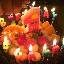 sizes of candles 1pcs number one shape birthday party candles for