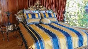 Blue And Gold Home Decor Sleep Like Royalty In Bedding By La Jolla U0027s Symphony Home Décor