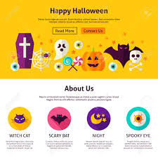happy halloween web design template flat style vector
