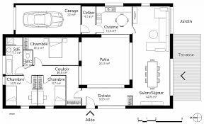 plan de maison en l avec 4 chambres plan maison 90m2 3 chambres de maison 4 chambres avec patio high