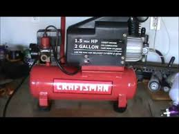 Craftsman 3 Gallon Air Compressor Why Is My Craftsman Compressor Frozen Up Youtube
