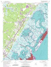 National Harbor Map Stone Harbor Topographic Map Nj Usgs Topo Quad 39074a7