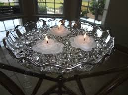simple elegance with a floating candle centerpiece