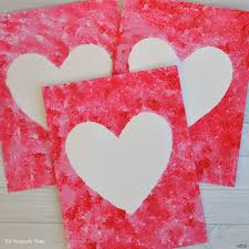 sponge painted hearts valentine u0027s day art project the