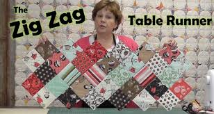 halloween table runner pattern zig zag charm pack table runner youtube