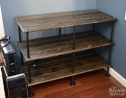 Black Pipe Bookshelf Diy Black Pipe And Pine Industrial Shelves Hometalk